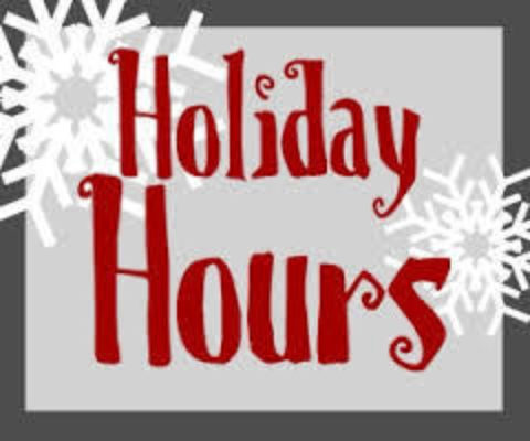 Holiday Hours2